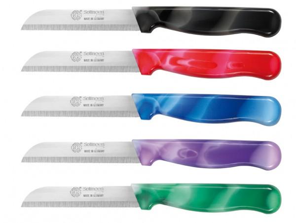Küchenmesser zweifarbig Sägeschliff 8,5cm Klinge