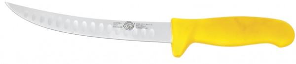 """Messer gelb 8"""" gebogen mit Kullen"""