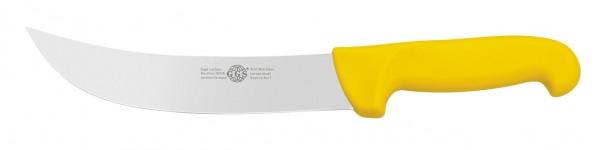 """Messer gelb 8"""" schräg-spitz"""